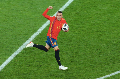 Iago Aspas celebrates at the death (Credit: Planet Fútbol)