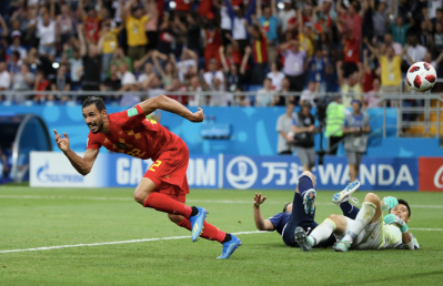 Nacer Chadli celebrates at the death (Credit: Squawka News)
